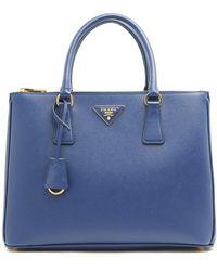 Prada Medium Saffiano Galleria Top Handle Bag - Blue