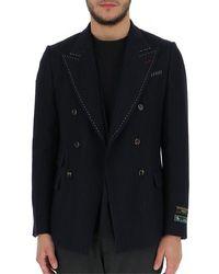 Gucci Pinstripe Tailored Blazer - Blue