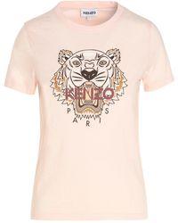 KENZO Tiger Printed T-shirt - Pink