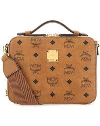 MCM Visetos Small Klassic Crossbody Bag - Brown