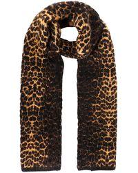 Saint Laurent Leopard Patterned Scarf - Multicolour
