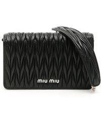 Miu Miu Matelassé Délice Bag - Black
