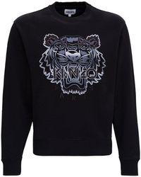 KENZO Gradient Tiger Embroidered Sweatshirt - Black