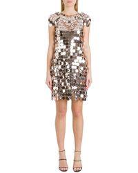 Paco Rabanne Sequins Chainmail Mini Dress - Metallic