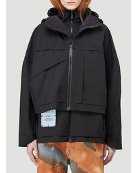 McQ Hooded Layered Jacket - Black