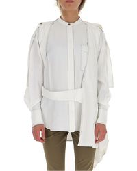 Proenza Schouler Belted Asymmetric Shirt - White