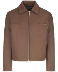 Jacquemus Asao Zipped Jacket - Brown