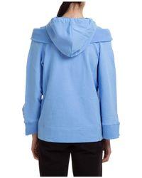 Alberta Ferretti Shoulder Cut-out Hooded Jacket - Blue