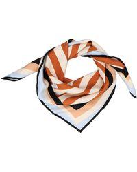 Fendi - Logo Printed Striped Scarf - Lyst