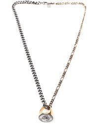 Alexander McQueen Ring Pendant Necklace - Metallic