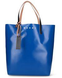Marni Tribeca Two-tone Tote Bag - Blue