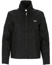 Prada Logo Plaque Track Jacket - Black