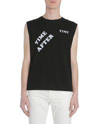 Saint Laurent Black Cotton T-shirt