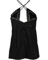 MM6 by Maison Martin Margiela Lace-detailed Slip Top - Black