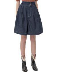 See By Chloé Wide-leg Denim Shorts - Blue