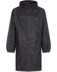 Prada Front Pocket Raincoat - Black