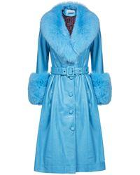 Saks Potts Foxy Shearling Coat - Blue