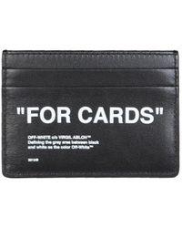 Off-White c/o Virgil Abloh Quote Card Holder - Black
