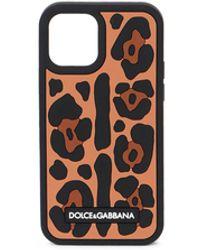 Dolce & Gabbana Leopard Print Iphone 12 Pro Case - Brown