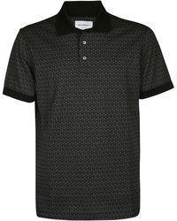 Ferragamo Gancini Short Sleeved Polo Shirt - Black