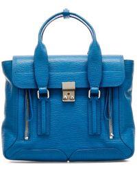 3.1 Phillip Lim Pashli Satchel Handbag - Blue