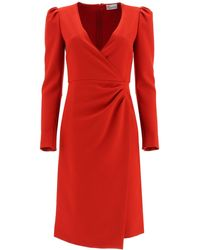 RED Valentino Crepe Double Stretch Dress 40 - Red