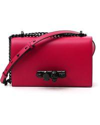 Alexander McQueen Jewelled Satchel Bag - Red