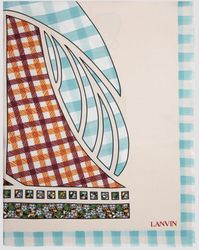 Lanvin Graphic Print Frayed Scarf - Multicolor