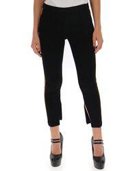 Miu Miu Side Stripe Leggings - Black