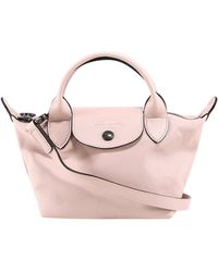 Longchamp Le Pliage Cuir Extra Small Top Handle Bag - Pink