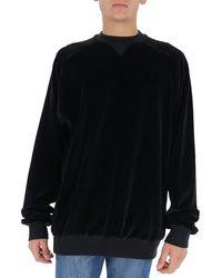 Haider Ackermann Rear Slogan Embroidered Sweatshirt - Black