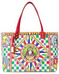 5b0d2445cc57 Dolce   Gabbana - Sicilian Carretto Beatrice Shopper Bag - Lyst