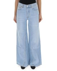 Ganni Wide Leg Jeans - Blue