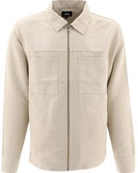 Stussy Micro Suede Overshirt - Natural