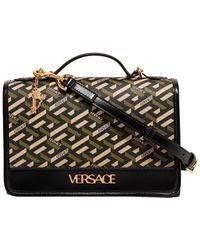 Versace La Greca Signature Shoulder Bag - Multicolour