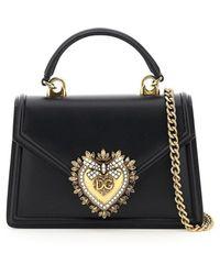 Dolce & Gabbana Small Devotion Bag - Black