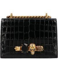Alexander McQueen Jewelled Small Satchel Bag - Black