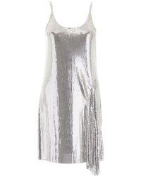 Paco Rabanne Asymmetric Chainmail Dress - Metallic