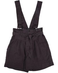 Isabel Marant Fineba Overall Shorts - Black