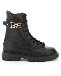 Bally Gioele Leather Lace-up Boots - Black