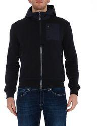 Herno Zip-up Hooded Sweatshirt - Blue