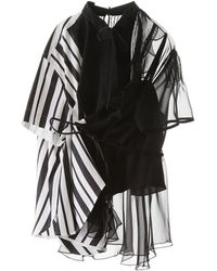 Sacai Asymmetric Belted Shirt - Black