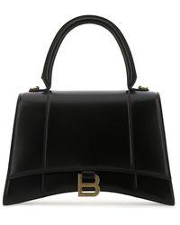 Balenciaga Hourglass Medium Top Handle Bag - Black