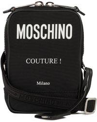 Moschino Logo Crossbody Bag - Black