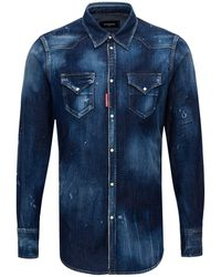 DSquared² Western Shirt - Blue