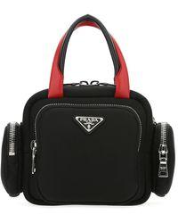 Prada Padded Zipped Tote Bag - Black
