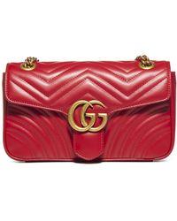 Gucci - GG Marmont Matelassé Small Shoulder Bag - Lyst