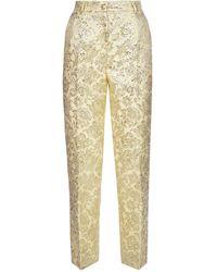 Dolce & Gabbana Lame' Jacquard Trousers - Multicolour