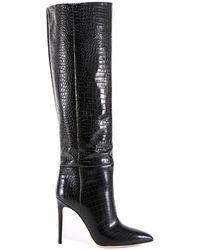 Paris Texas Knee-length Stiletto Boots - Black