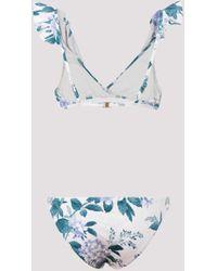 Zimmermann Cassia Waterfall Frill Two-piece Bikini - Blue